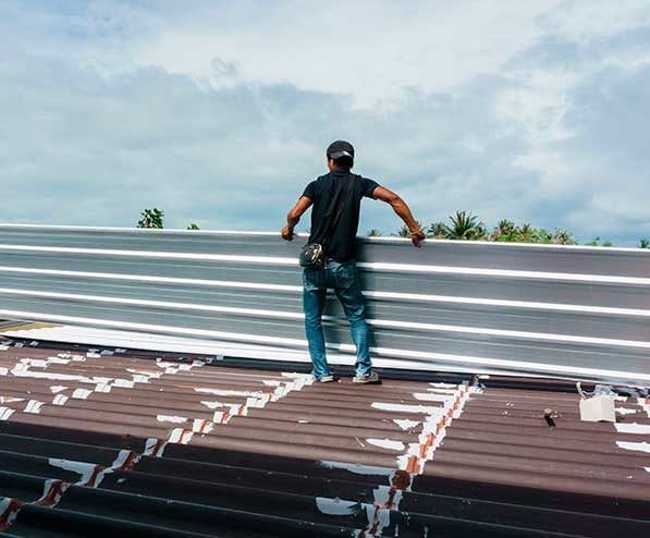 Metal roof repair on metal decking in dallas texas