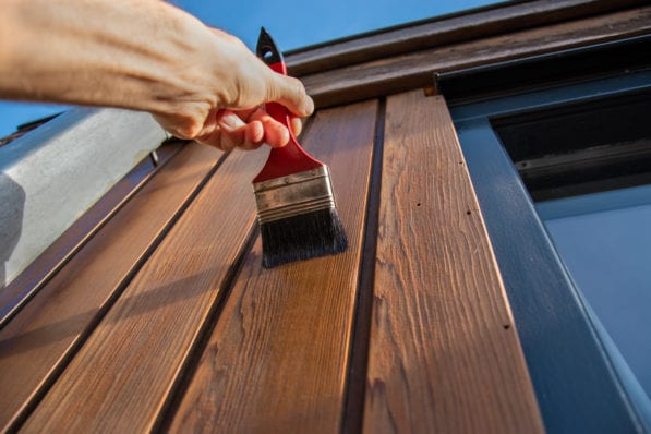 staining wood siding