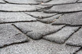 old roof granule loss