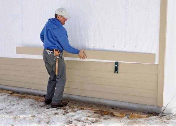 Fiber Cement Board siding innstallation