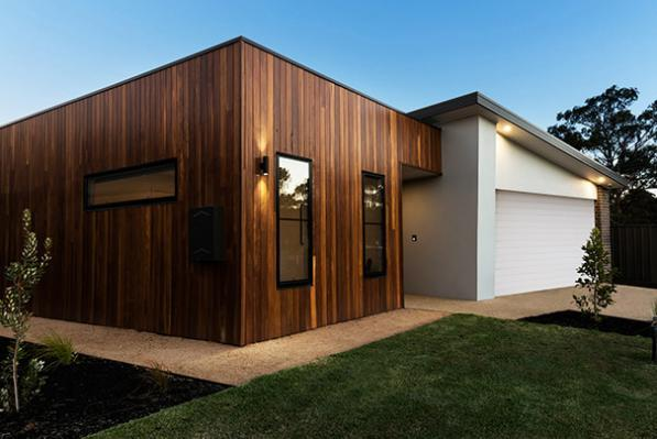 Flat roof on modern home